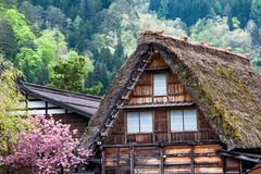 Traditional and Historical Japanese village Ogimachi - Shirakawa-go, Japan Royalty Free Stock Photography