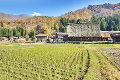 Traditional and Historical Japanese village Ogimachi - Shirakawa Royalty Free Stock Photography