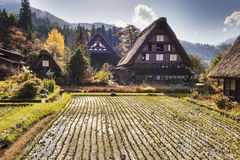 Traditional and Historical Japanese village Ogimachi - Shirakawa Stock Photos