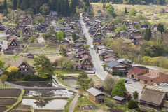 Traditional and Historical Japanese village Ogimachi - Shirakawa Royalty Free Stock Photos
