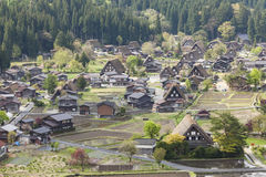 Traditional and Historical Japanese village Ogimachi - Shirakawa Stock Image