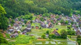 Traditional and Historical Japanese village Shirakawago in Gifu Prefecture Japan, Gokayama has been inscribed Royalty Free Stock Photography