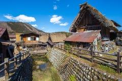 Traditional and Historical Japanese village Shirakawago. At Japan Royalty Free Stock Photo