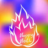 Traditional Holi background of India Stock Image
