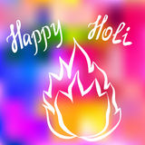 Traditional Holi background of India Stock Photos