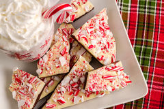 Traditional Holiday Chocolate Peppermint Bark Royalty Free Stock Photo