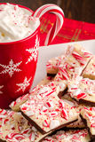 Traditional Holiday Chocolate Peppermint Bark Royalty Free Stock Photos