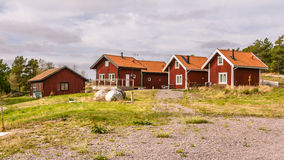 Traditional holiday homes in Sweden Europe Royalty Free Stock Photos