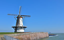 Traditional holland windmill Royalty Free Stock Photo