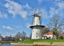 Traditional Holland windmill Stock Photography