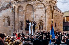 Traditional Holy Week procession in Zamora, Spain Royalty Free Stock Images