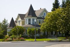 Traditional home. Shot of a traditional home in Sonoma, CA stock images