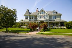 Traditional home. Shot of a traditional home in Sonoma, CA Royalty Free Stock Photo