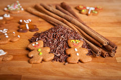 Traditional home baked ginger cookies stock photos