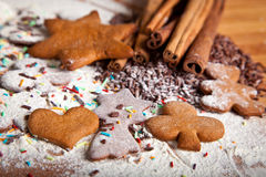 Traditional home baked ginger cookies royalty free stock photography