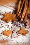 Traditional home baked ginger cookies Stock Image