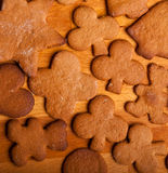 Traditional home baked ginger cookies Royalty Free Stock Photo