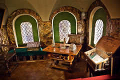 Traditional home interior Russian aristocracy of the 17th centur Stock Photos