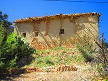 Traditional home in moroccan mountains. The photo shows an AMAZIGH home made by soil and stones Royalty Free Stock Images