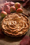 Traditional homemade aplle pie winter holiday Royalty Free Stock Photo