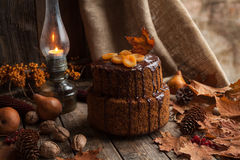 Traditional homemade carrot cake delicious dessert Royalty Free Stock Photography