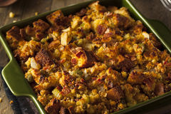 Traditional Homemade Cornbread Stuffing Royalty Free Stock Photo