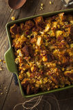 Traditional Homemade Cornbread Stuffing Royalty Free Stock Photos