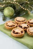Traditional homemade fruit mince pies royalty free stock image