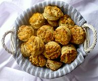 Traditional homemade hungarian greaves scones Royalty Free Stock Images