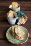 Traditional homemade italian cantucci or cantuccini cookies Stock Image