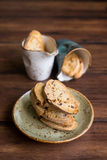 Traditional homemade italian cantucci or cantuccini cookies Stock Images