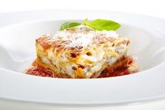 Free Traditional Homemade Italian Lasagna With Tomato Sauce Stock Photo - 128926900