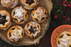 Traditional homemade mince pies. Stock Photography