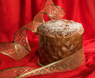 Traditional homemade Panettone for Christmas and New Year. Stock Photos