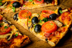 Traditional homemade pizza Royalty Free Stock Images