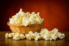 Traditional homemade popcorn Royalty Free Stock Photos