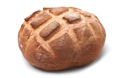 Traditional homemade round bread Stock Photos