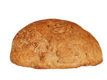 Traditional homemade round bread isolated Stock Photos