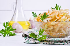 Traditional homemade sauerkraut. With carrots, fennel seeds and fresh parsley. Selective focus Royalty Free Stock Image