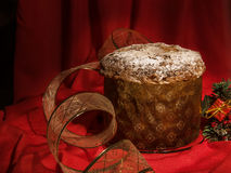 Traditional homemade spicy Panettone for for winter holidays. Stock Image