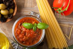 Traditional homemade tomato sauce Royalty Free Stock Photography