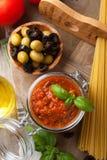 Traditional homemade tomato sauce Stock Image