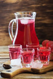 Traditional homemade wine. Fresh homemade grape wine. Rustic style. Selective focus Stock Photo