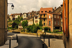 Traditional homes, Aubusson, France Stock Photos