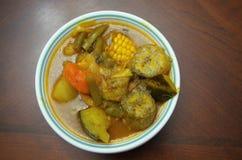 Traditional Honduras soup of cow stomach sopa de mondongo stock image