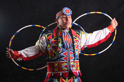 Traditional Hoop Dancer Stock Photography