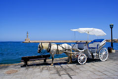 Traditional horse-car Stock Image