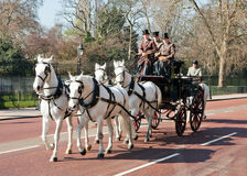 Traditional horse carriage with british gentlemen Royalty Free Stock Photography
