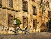 Traditional horse and cart at Cordoba royalty free stock photography