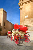 Traditional horse-drawn carriage in Spain royalty free stock photography
